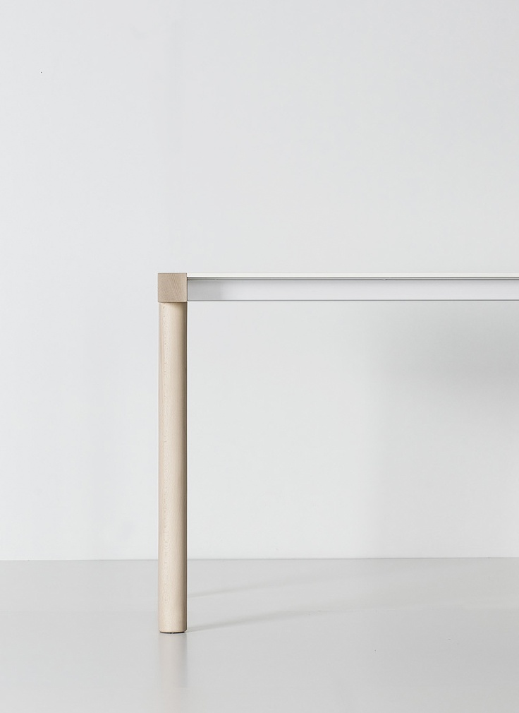 Torii wood simple table with special design elements made of wood and glass | Details: Furniture . Möbel . meubles | Design: Bartoli design |