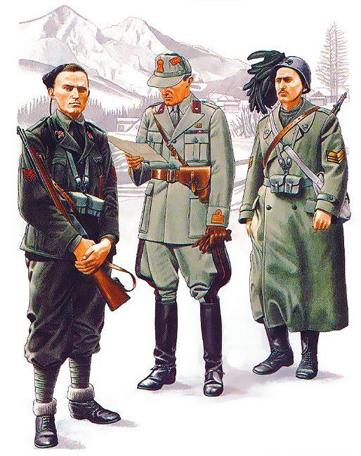 """""""Italian Units - Yugoslavia: • Vicecaposquadra, Slovenia, August 1942 • Colonnello titolare, Eastern Montenegro, 1942 • Sergente-Maggiore, Western Croatia, September 1941"""", Darko Pavlovic"""
