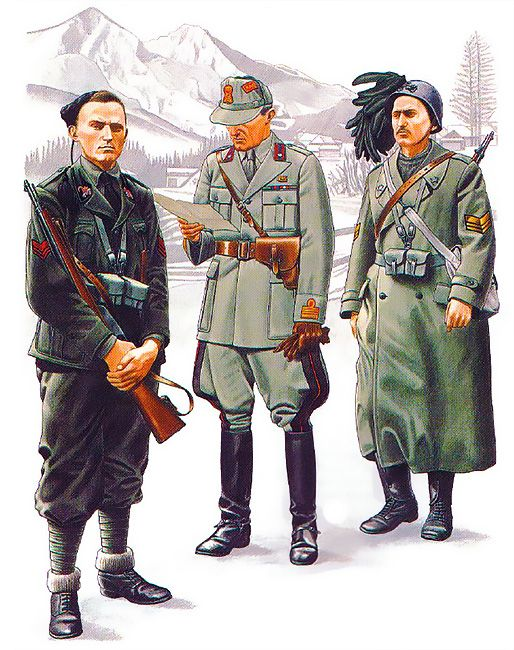 Italian Units - Yugoslavia: • Vicecaposquadra, Slovenia, August 1942 •…