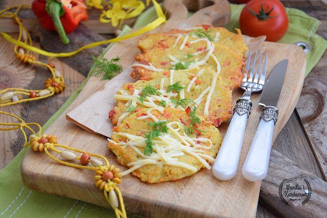 Wanilia i Kardamon: Placki ziemniaczane z papryką i serem żółtym