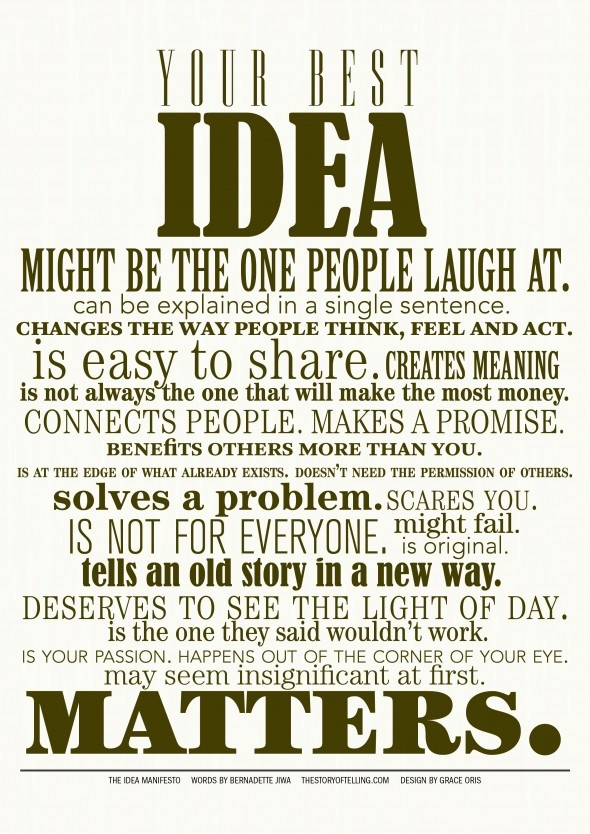 Your. Idea. Matters.Ideas Manifesto, Ideas Matter, Typography Posters, Posters Design, Posters Quotes, Graphics Design, Motivation Posters, Quotable Quotes, Design Posters
