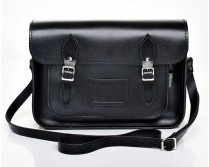 Zatchels Black Leather Satchel