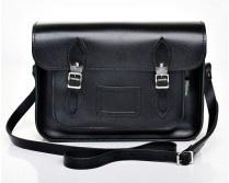 Zatchels Black Leather Satchel