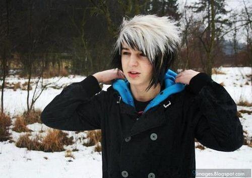 scene boy emo hair