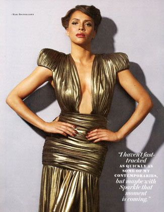Sparkle's Carmen Ejogo for Ebony Magazine September 2012