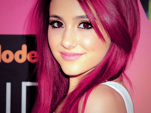 Black And Pink Ombre Hair - color hair # dark pink hair. Pretty ...