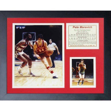 Legends Never Die Pistol Pete Maravich Framed Photo Collage, 11 inch x 14 inch
