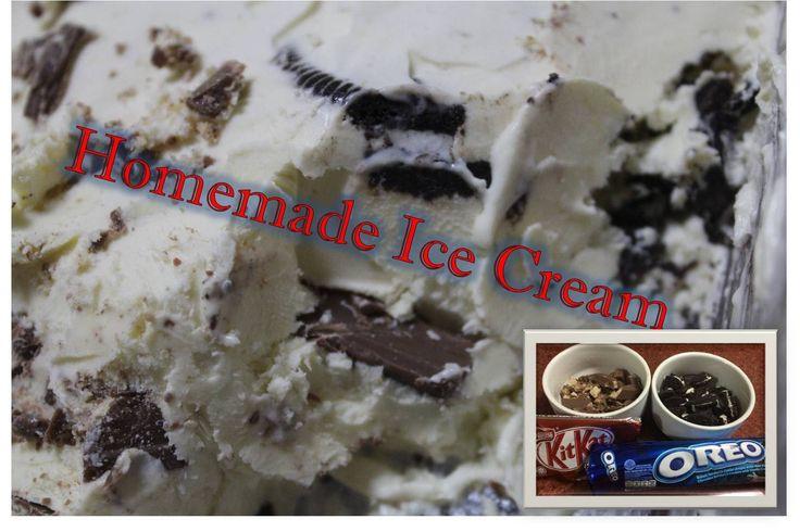 Homemade Ice Cream with Oreo and Kitkat   No Ice Cream Maker  Recipe: http://youtu.be/FfllGKTn4ws?list=PLKzua_x2TbRxiJqx22pkuie3SjLZrlGbY