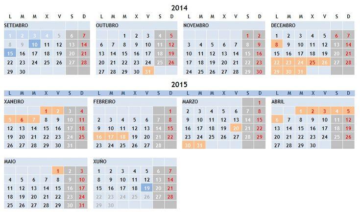 Calendario escolar 2014/2015 | Consellería de Cultura, Educación e Ordenación Universitaria