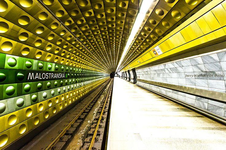 Prague Metro station - Malostranská by Jerry Huynh Tot on 500px