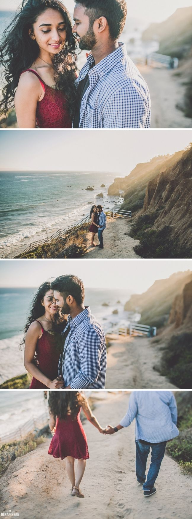 El Matador Beach Engagement Session