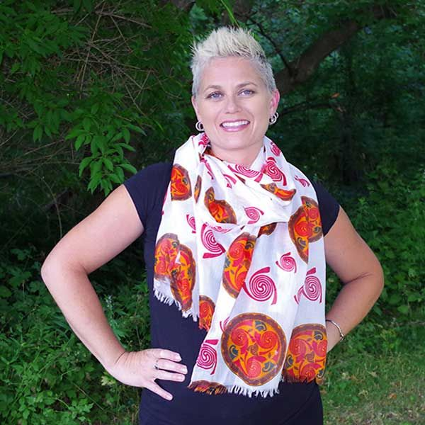 Celtic Swirl Scarf by Patrick King. Made from Cotton. $29.95 #scarf #celtic