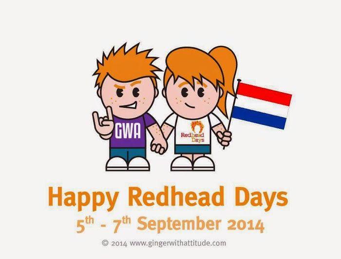 Het lukt mij niet om er bij te zijn. Voor een ieder die wel gaat: Happy Red Head Days! http://on.fb.me/1t8S4sY