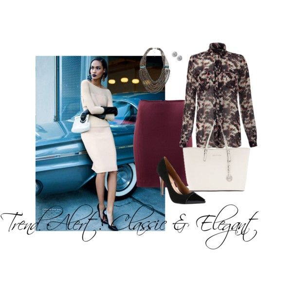 #Trendalert: #Classic & Elegant @Michael Kors @French Connection @ALDO Shoes @Banana Republic  #Polyvore #Fashion #looks