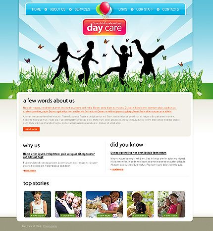 Day Care Website Templates by Delta
