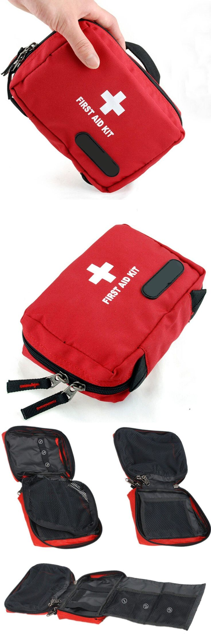[Visit to Buy] Outdoor Tactical Emergency Medical First Aid Pouch Bags Survival Pack Rescue Kit Empty Bag for outdoor Safety and Survival #Advertisement