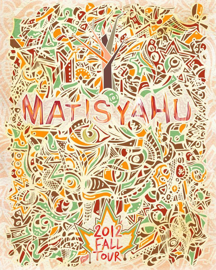 Matisyahu Fall 2012 Tour Poster by Oleg Kremeshnoy  facebook.com/OleKreme