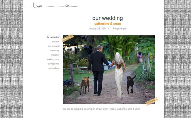 Sean and Catherine's Wedding Website! They got married TONIGHT on an awesome LIVE show. (Just watched it, LOVED it) #bachelorobsessed #ifyoudontlikeityourealoseranddonthavealife!