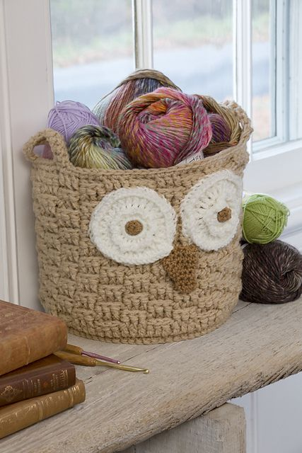 [Free Pattern] This Beautiful Hoot Owl Container Is A Perfect Storage Idea For Your Yarn - Knit And Crochet DailyKnit And Crochet Daily