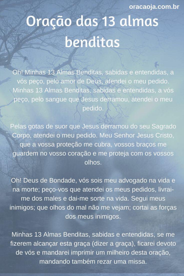 Oração das 13 almas benditas #oracaoja #oracao
