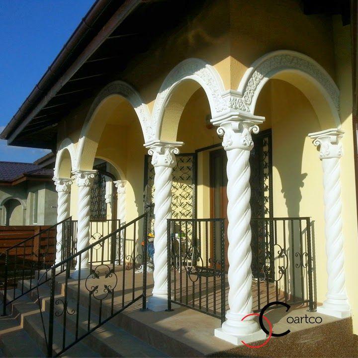 Terasa Coloane Spiralate in Stil Brancovenesc din Polistiren