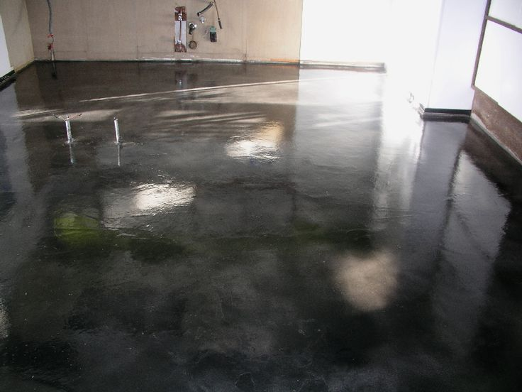 Dark grey & charcoal acid stained concrete