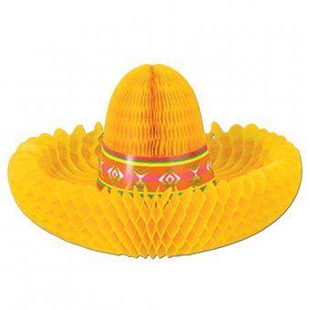 Fiesta Sombrero Centrepiece - Mexican Party Decoration Ideas