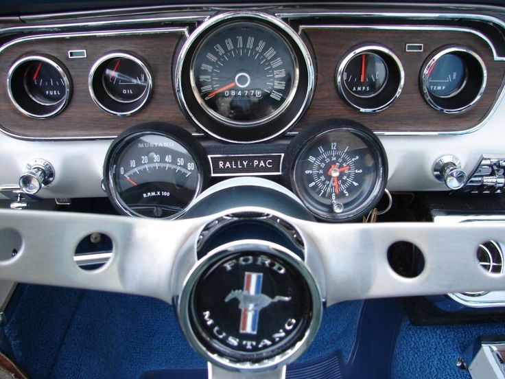 Dash close-up 1965 Mustang Convertible