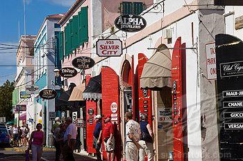 St Thomas island shopping