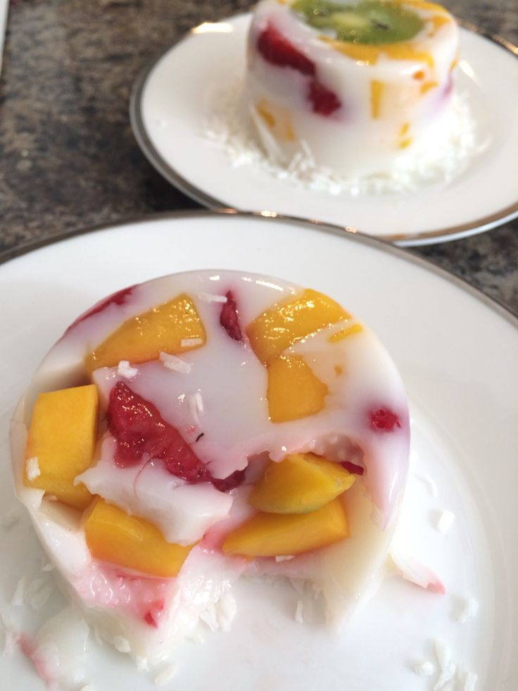 Coconut Fruity Jelly #heartmade #Goodies