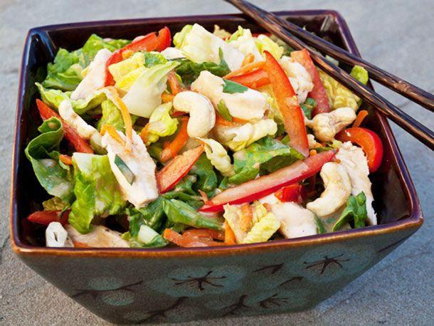 Chinese Chicken Salad with Sesame Ginger Vinaigrette: Asian Chicken Salads, Ginger Vinaigrette, Food, Vinaigrette Recipe, Recipes, Chinese Chicken Salads, Summer Salads, Sesame Ginger Dressing, Serious Eats