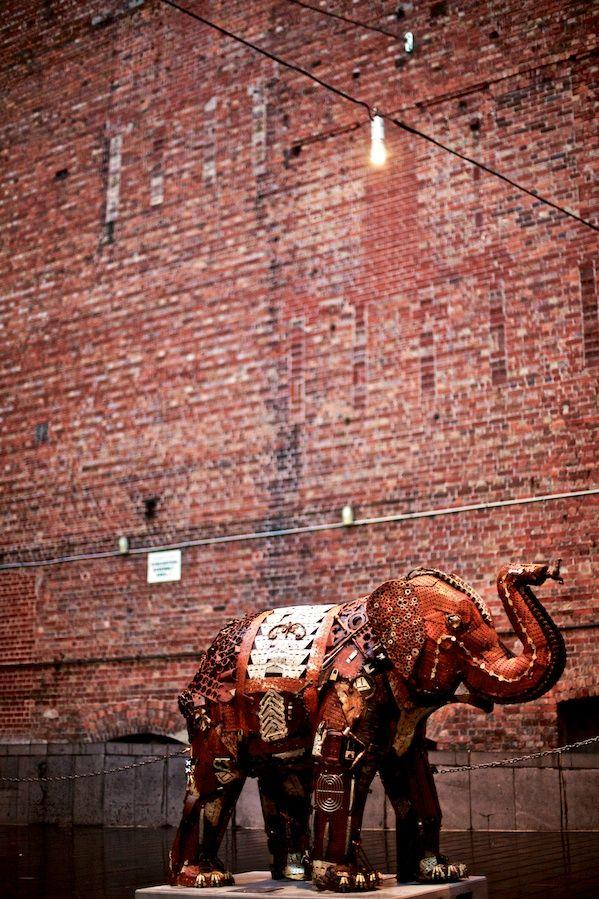 Rusty Mali Elephant in Chinatown Melbourne - Street Art