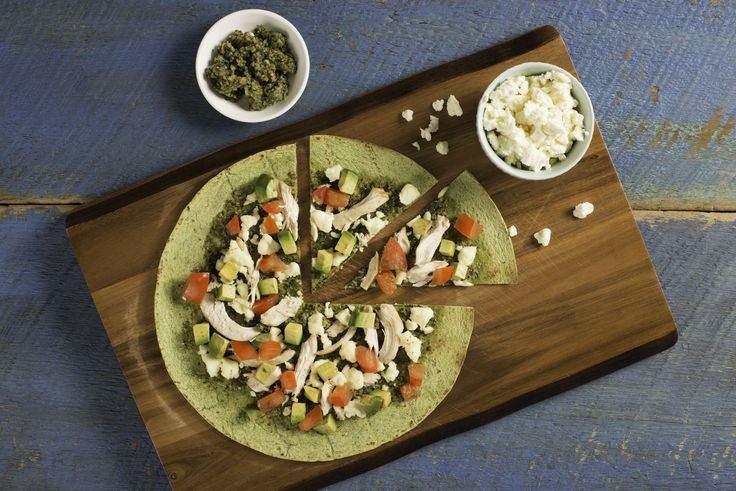 Chicken & Cilantro Pesto Flatbread