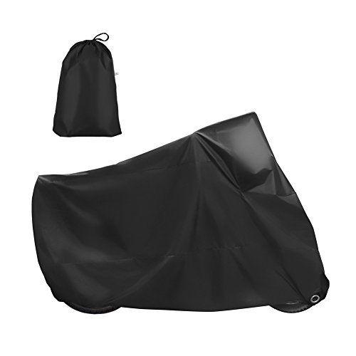 GHB XL Houssede Protection Moto Couverture Imperméable Anti-UV en Polyester 190T pour Moto, Scooter XL 245 x 105 x 125cm – Noir: ♣…