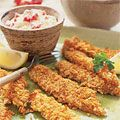 These Crunchy #Fish Sticks and Smashed Potatoes is a hit with the kids AND adults. #dinner #recipes