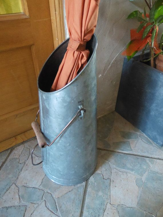 stunning seau a charbon porte parapluie zinc laiton vintage us lorraine france with porte. Black Bedroom Furniture Sets. Home Design Ideas