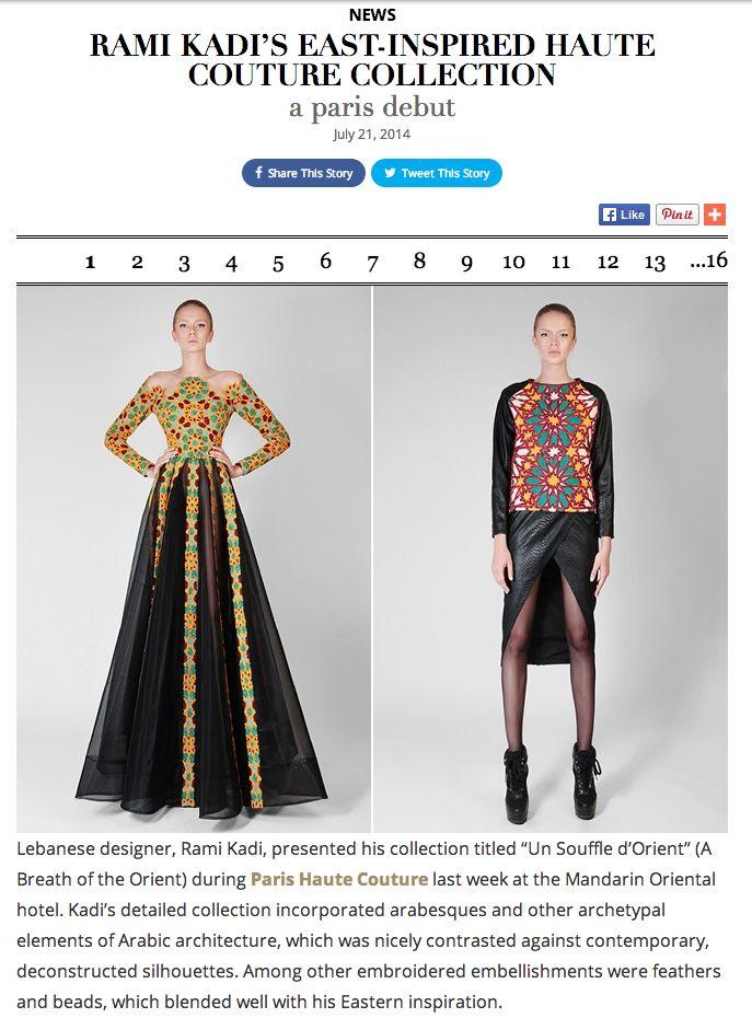 Rami Kadi Featured In Style.com/Arabia