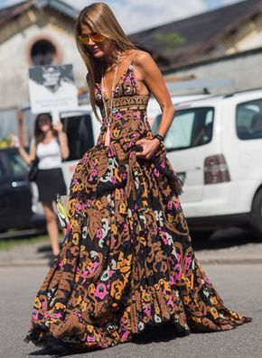 Polyester Geometric Sleeveless Maxi Elegant Dresses (1036936) @ floryday.com  – Outfits