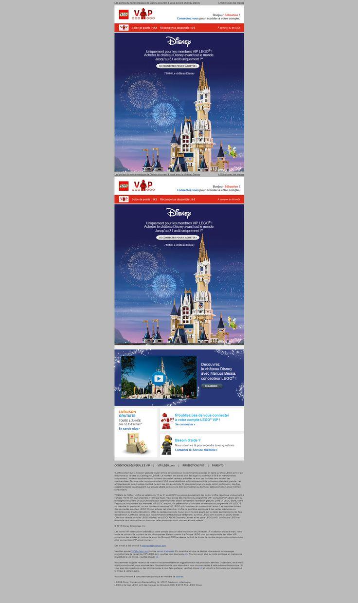 objet : [Nouvel ensemble exclusif Le château Disney LEGO® désormais disponible !]