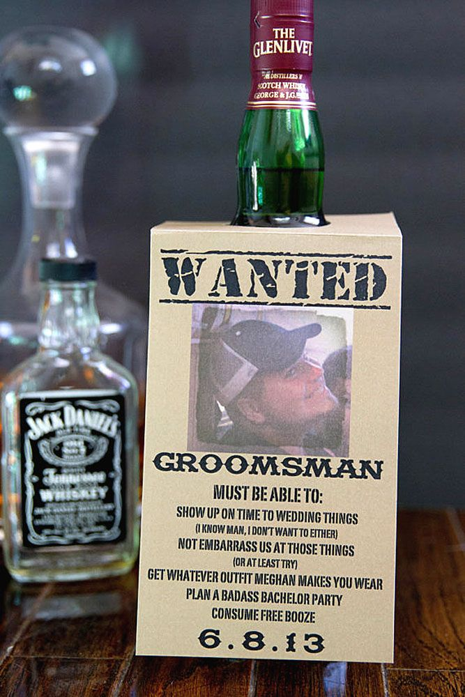 Groomsmen Proposal Ideas And#8220;Will You Be My GroomsmanAnd#8221; ❤ See more: http://www.weddingforward.com/groomsmen-proposal-ideas/ #weddings