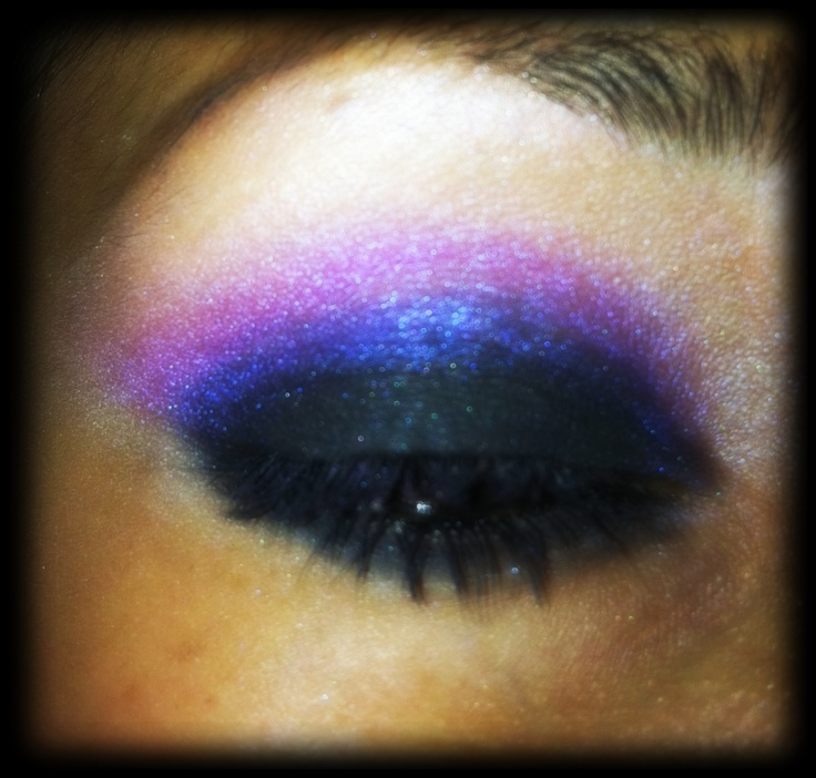 electric purple and blue eyes