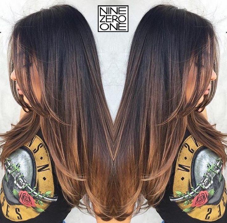 Balayage Brunette Straight
