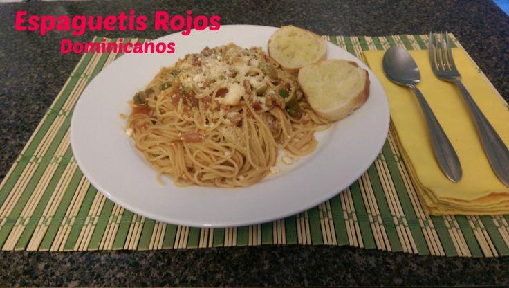 Espaguetis rojos al estilo dominicanos - Una manera fácil, rápida y barata de solucionar cualquier cena o almurzo.