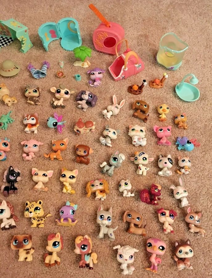 Huge Lot Lps Littlest Pet Shop Figures Access 95 Pc Variety Of Retired Rare Pet Shop Figures Lps Littlest Pet Shop Littlest Pet Shop Pet Shop