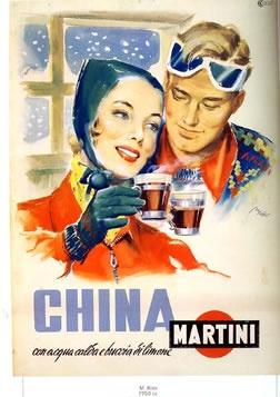 vintage poster | Tullio Rossi,  China Martini (winter), 1951