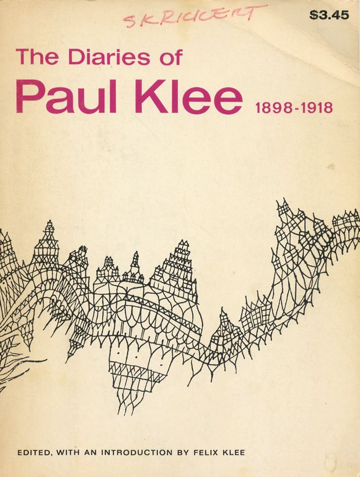 mythologyofblue:  The Diaries of Paul Klee 1898-1918, edited, with an introduction by Felix Klee (via alfiusdebux) +  and +
