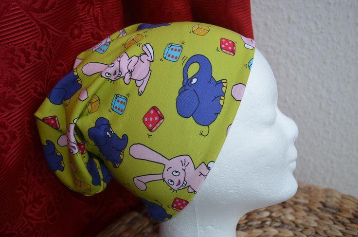 Die Sendung mit der Maus Blauer Elefant Beanie  von Loops &  andere Nähigkeiten  auf DaWanda.com