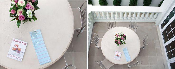 Renaissance inspired cement dinning setting  - Garden design by Impressions Landscape - Design
