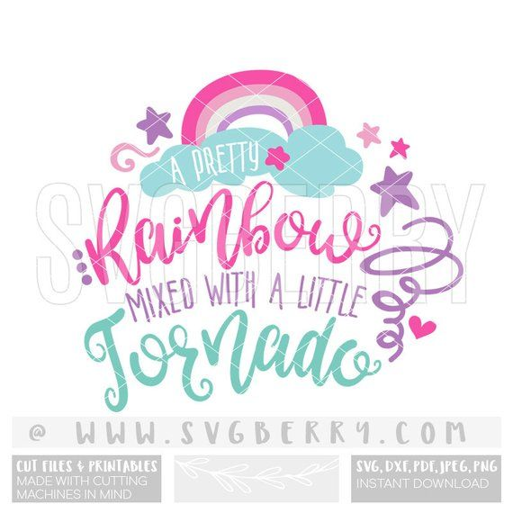 A Pretty Rainbow Mixed With A Little Tornado Svg Unicorn Svg
