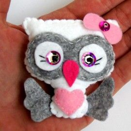 Sowa - broszka z filcu / Owl - a brooch made of felt [TinyArt] -> Zitolo.com
